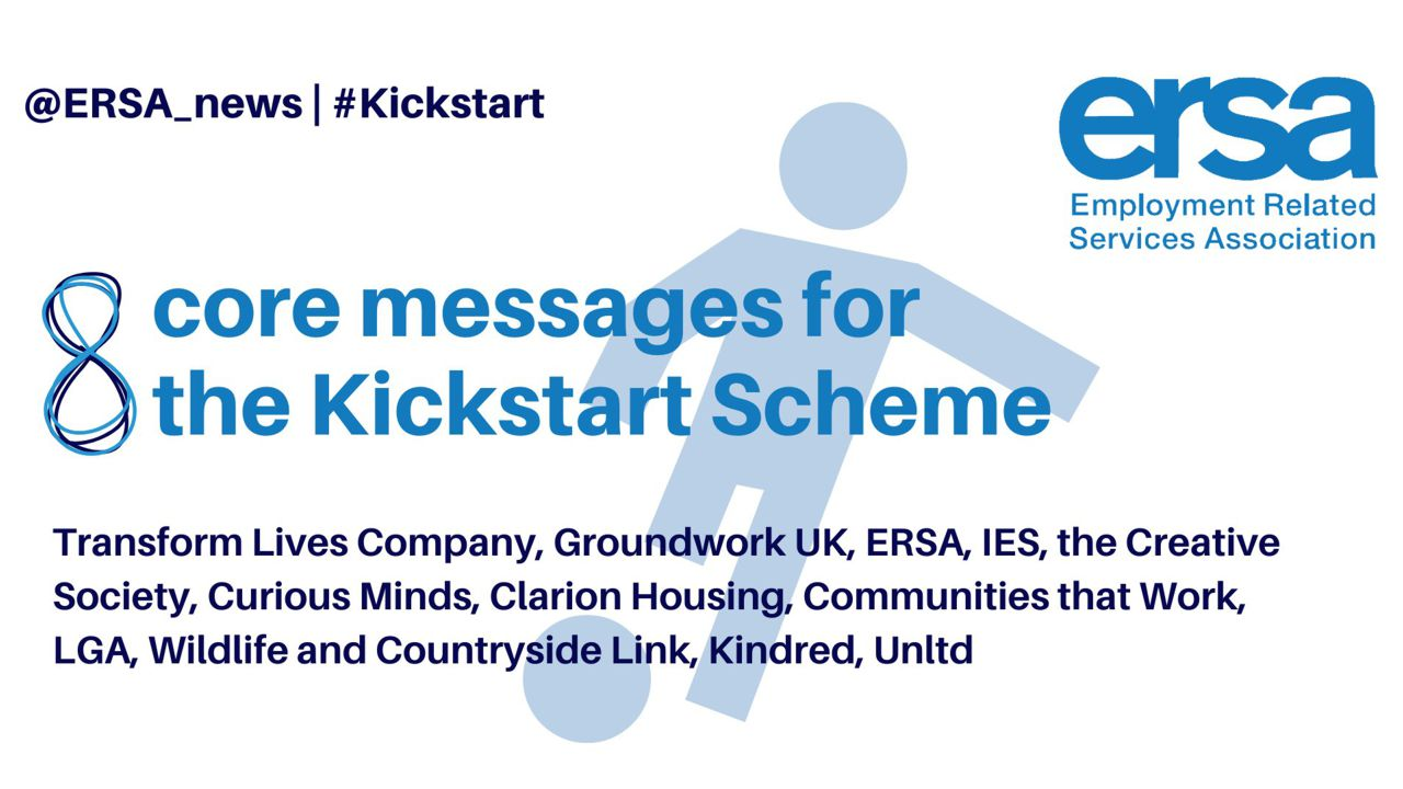Our eight core messages for the Kickstart Scheme